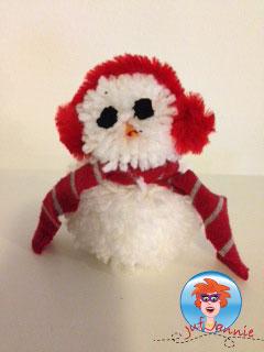Sneeuwpop Maken Van Pompons Knutselen Met Kinderen Juf