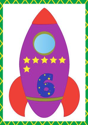 cijferkaartenKleur-raket