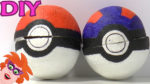 DIY pokeball knutselen van papier-maché